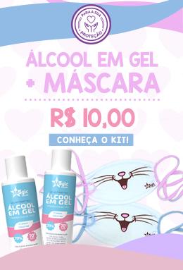 Kit Mascara e alcool em gel 90ml